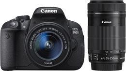 Canon EOS 700D + 18-55mm IS STM + 55-250mm STM Kit