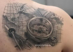 ranet38 - samanii - compass-tattoo-shoulder-5414263